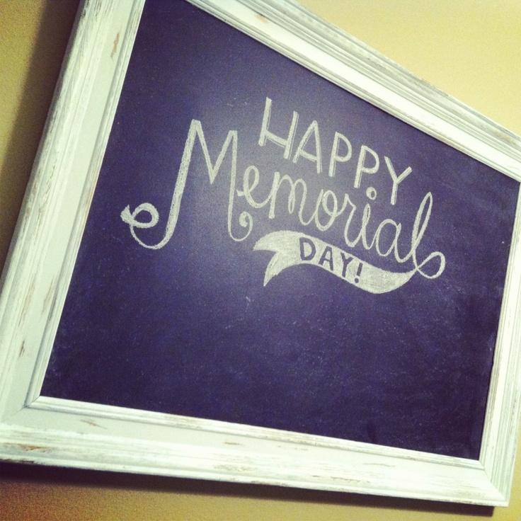 Memorial Day #chalkboard