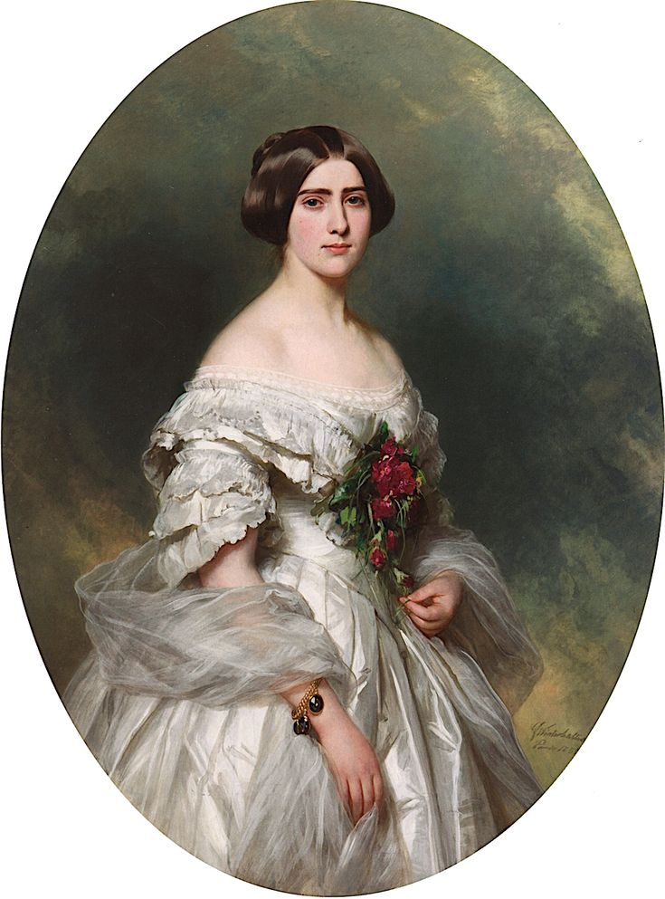 Young Lady in a Ball Gown by Franz Xaver Winterhalter, c ...