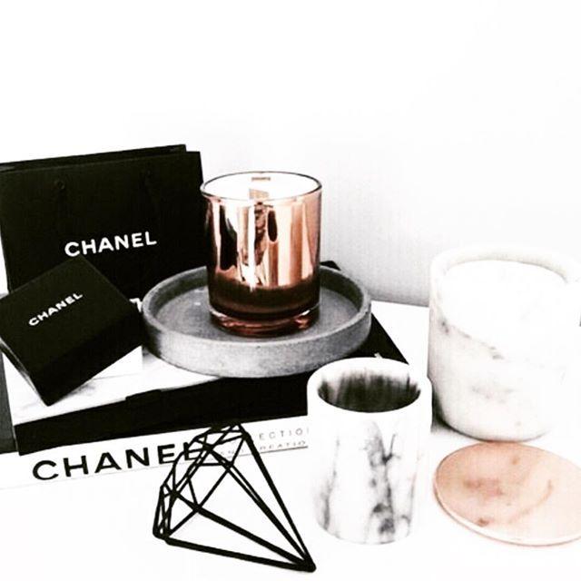 Basics #blackandwhite #chanel #marble