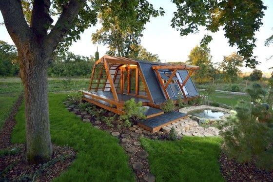 Diseño de pequeña casa de madera