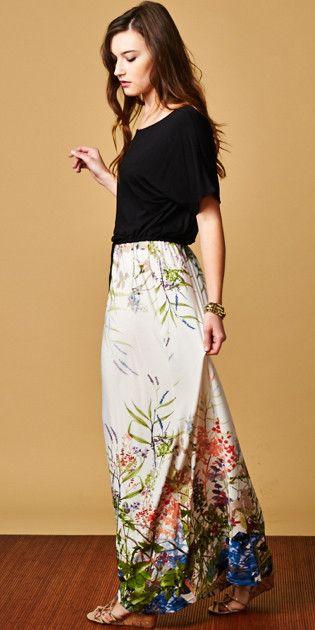 Modest Boyfriend drawstring Maxi Dress elbow length sleeves   Mode-sty