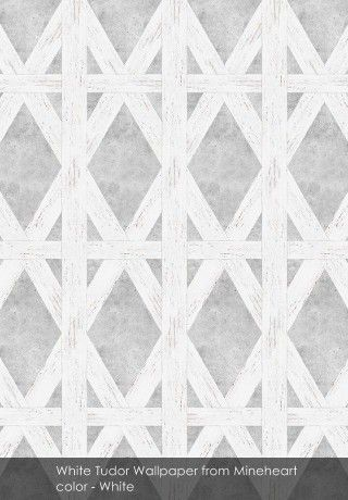 White Tudor Wallpaper from Mineheart - patternsnap blog 'Rockin' the Renaissance with Mineheart'