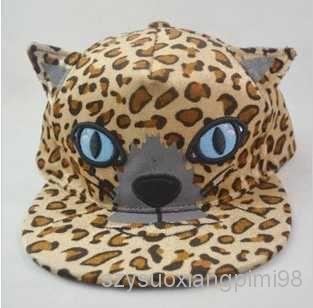 регулируемые бейсбол шляпы кошачьи уши хип-хоп дамы бейсболка прилив leopard snapbacks открытый зонтик