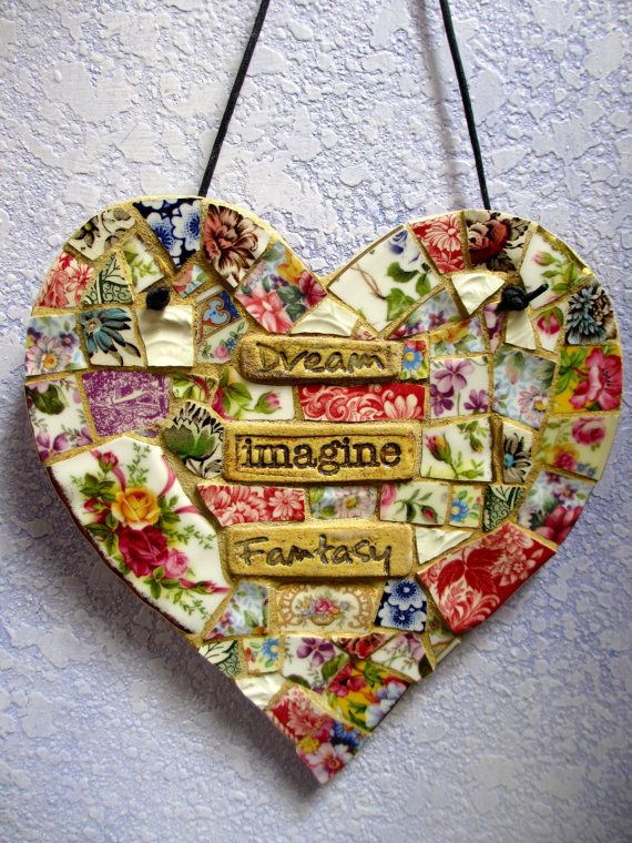 Hey, I found this really awesome Etsy listing at https://www.etsy.com/listing/196383617/mosaic-heart-dream-imagine-fantasy