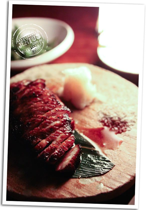 Toko restaurant and bar, Surry Hills Sydney - duck breast, sansho pepper and picked nashi pear, $28.80