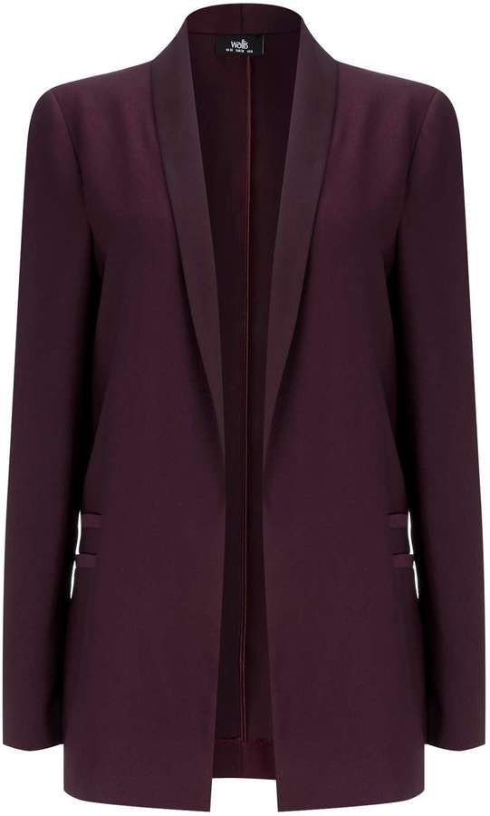 Berry Satin Blazer Jacket
