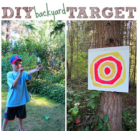 Make your own fun! This kid made archery target craft will be played with for sure!
