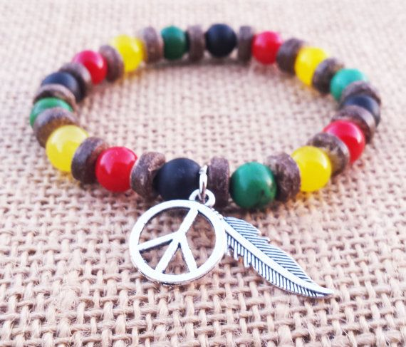 Check out this item in my Etsy shop https://www.etsy.com/uk/listing/237651966/rastafari-rasta-bracelet-tropical