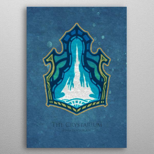 Crystarium Flag Metal Poster Mcashe Art Displate In 2020 Print Artist Metal Posters Cool Artwork
