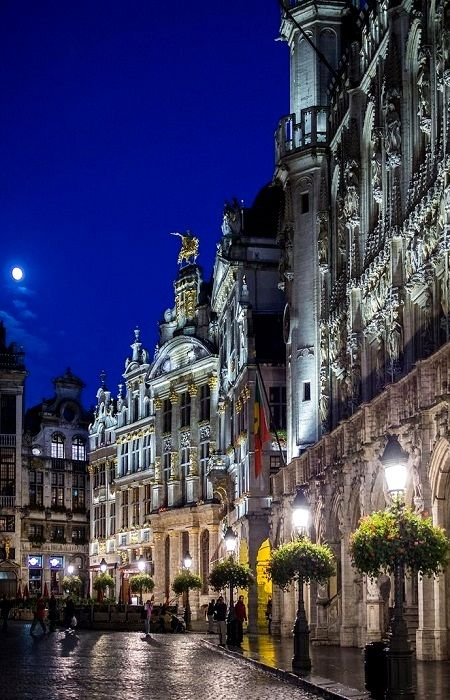 Brussels Grand Place by Night, Belgium. - Brussels, best known for the being the capital of the European Union, the home of Tintin and the famous painter Magritte, is not traditionally a romantic hotspot. But if you're looking for the perfect alternative to tourist-heavy Prague or Copenhagen for a romantic break, short-haul minimoon or pre-wedding getaway with your man,