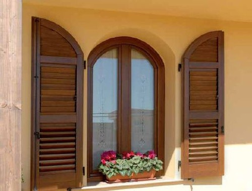 Custom Wood Window and Shutter by America Italiana