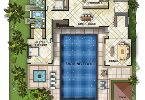 Best 25 house plans with pool ideas on pinterest one for Interior design 77379