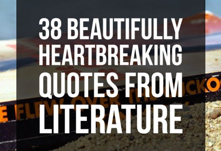We asked members of the BuzzFeed Community to tell us the saddest literary quote they've ever read. Here are some of their tear-jerking replies. | 38 Beautifully Heartbreaking Quotes From Literature