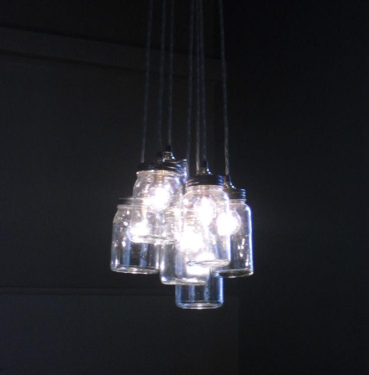 Kilner jar pendant lights