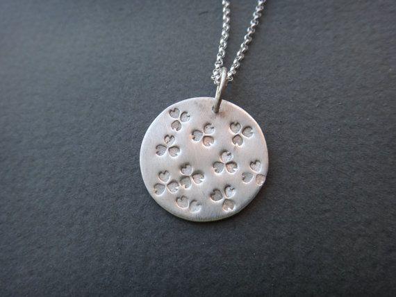 Little clovers botanical necklace by EyvindsAlchemy on Etsy