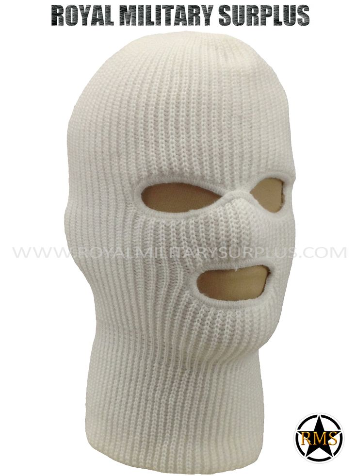 This WHITE Tactical Military Balaclava / Hood is in use by Canadian Forces. Made following Military Specifications (3 Holes Face Mask). All items are brand new and available. In use by Army, Military, Police and Special Forces of International Forces. Visit our Website at www.royalmilitarysurplus.com