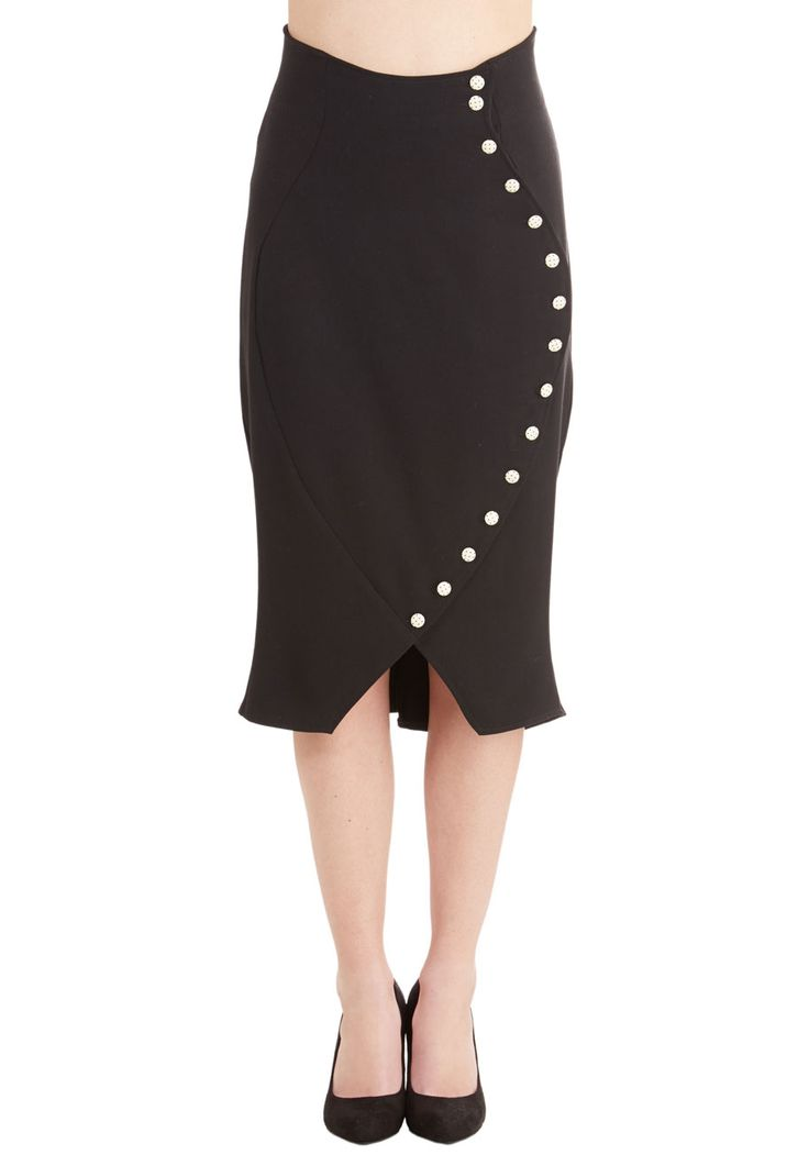Belle Curve Skirt. From exams to essays, you stay ahead of the class looking sharp in this retro pencil skirt! #black #modcloth