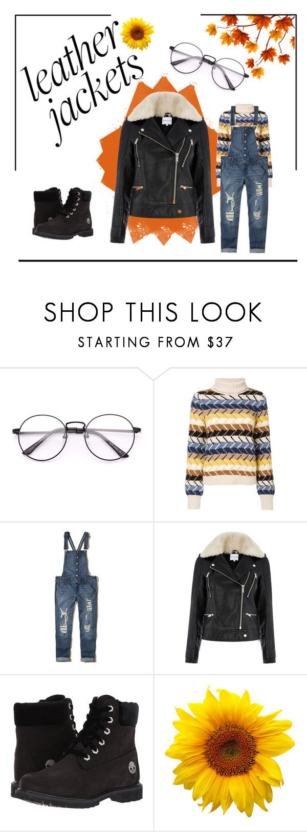 """""""Leather Jackets"""" by xlordabbyis ❤ liked on Polyvore featuring Chloé, Hollister Co., Warehouse and Timberland"""