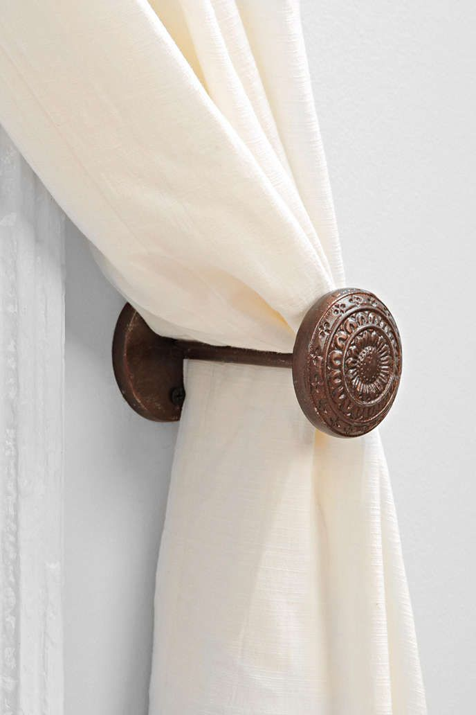 4040 Locust Engraved Door Curtain Tie Back
