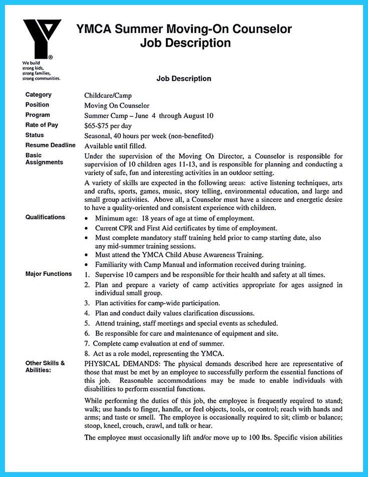 25+ unique Camp counselor job description ideas on Pinterest - webmaster job description