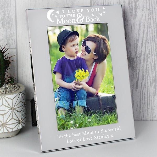 "Personalized Photo Frame 4x6/"" Wedding Birthday Baby Anniversary Mothers Day Gift"