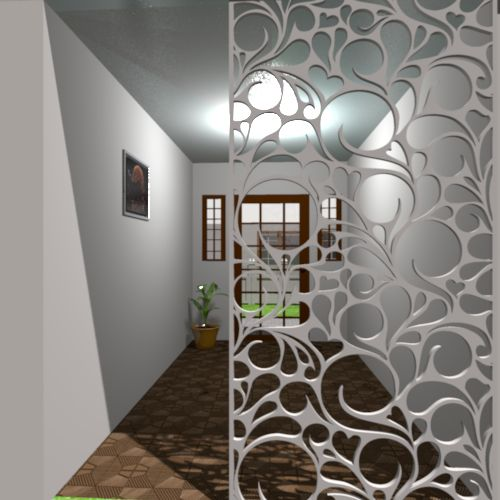 Ornamental panel jali screen partition designs can be for Interior jali designs