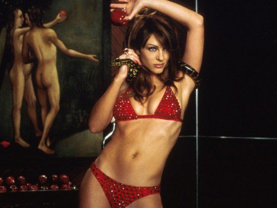 Pin for Later: The Best Bikini Moments in Movies Elizabeth Hurley, Bedazzled Who needs a devil in a blue dress when you can have a devil in a red bikini?