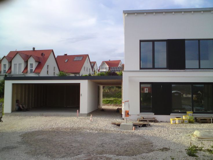 Garage Carport Combination As Prefabricated Garage Fertiggaragen Carport Haus Mit Garage