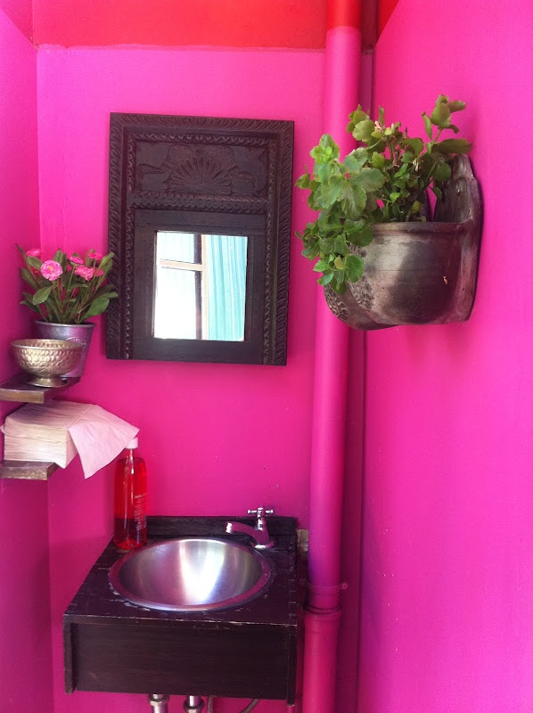 Neon Pink Interior Paint Part - 22: .pink Bathroom. T .
