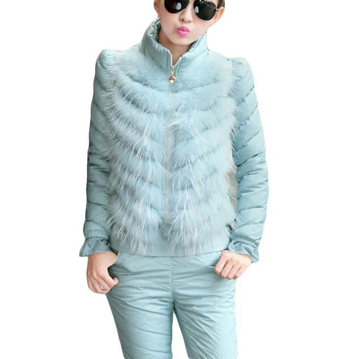Di alta Qualità Inverno Donne Vestiti Set 2016 Donne Tute Casual Tre Pezzi Delle Donne Imposta Più Spessa Giù Gilet Donne Vestito DX324