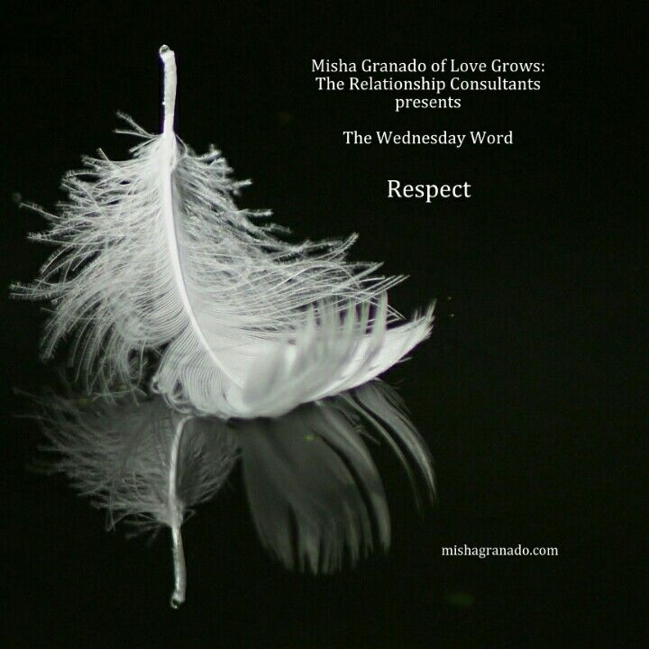 Wednesday Word: #Respect – Love is to want the best for another even if their best does not include you. I know this is easier said than done and it is quite difficult if a loved one (friend, romantic) decides to move on without you. It is important to #shift the way you view #relationships and understand that your #happiness and amazing #love will never be tied to someone who no longer wants you to accompany them on their #journey. Love is #abundant, it never runs out therefore, when one…