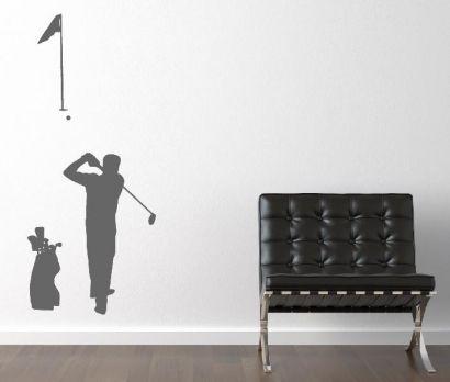 Spectacular topdesignshop Wandtattoo Aufkleber und Gravuren Shop Golf Wandtattoo Aufkleber