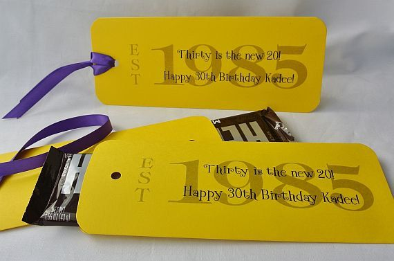 30th Birthday Party Favors, Candy Bar Wrappers, 30th Birthday, 1985, Personalized Birthday Favors, Adult Birthday, by abbey and  izzie designs