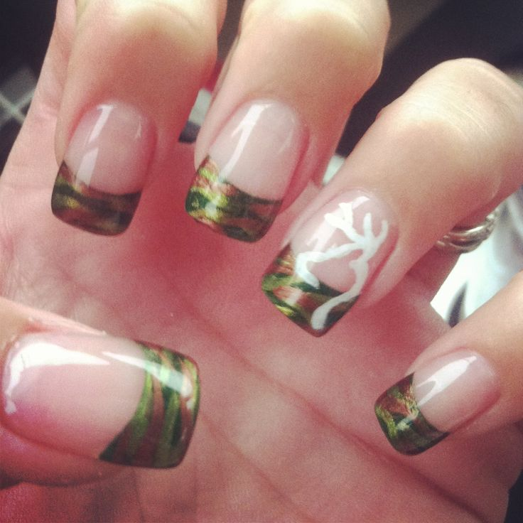 Camo Nails . I want to get my nails done like this
