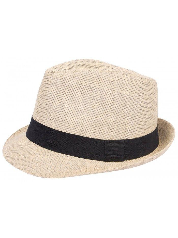 7a7b29088 Hats & Caps, Men's Hats & Caps, Fedoras,Mens Womens Straw Summer ...