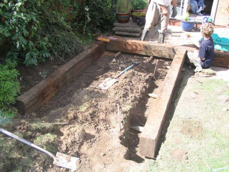 How To Build A Raised Pond With Railway Sleepers Outdoor