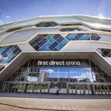 First Direct Arena, Leeds, UK features lots of glass including low-e glass Pilkington Optitherm™ S3, laminated safety #glass Pilkington Optilam™, body tinted solar control glass Pilkington Optifloat™ (bronze, grey and green) as well as Pilkington Spandrel Glass Enamelled. #architecture