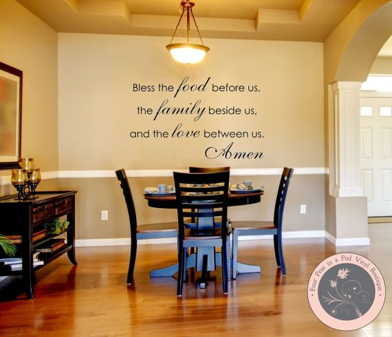 Charmant Kitchen Wall Decal   Family Wall Decal   Bless The Food Before Us Wall Decal   Kitchen Decor   Wall Decals   Wall Vinyl   Kitchen Wall Decor