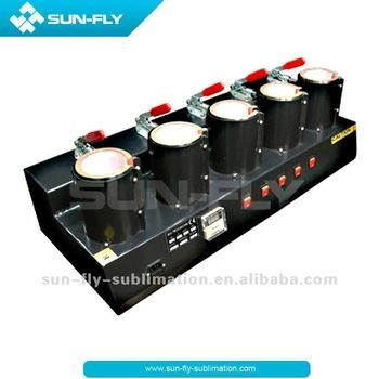5 in 1 Sublimation 5 Heaters Mug Press Machine Cup 3d sublimation heat press machine(SFS-M01E)