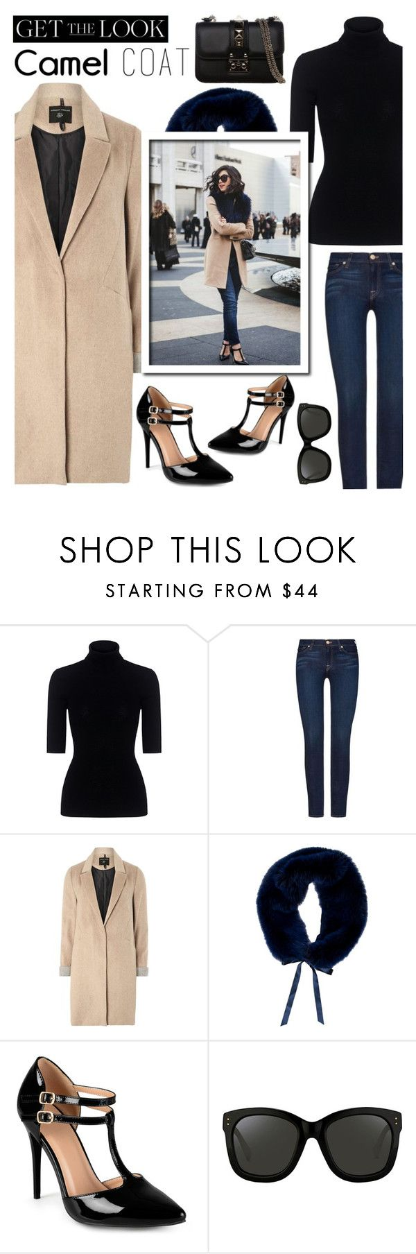 """""""Wear A Camel Coat..."""" by glamorous09 ❤ liked on Polyvore featuring Theory, 7 For All Mankind, mel, Oscar de la Renta, Journee Collection, Linda Farrow, Valentino, fallstyle and camelcoat"""