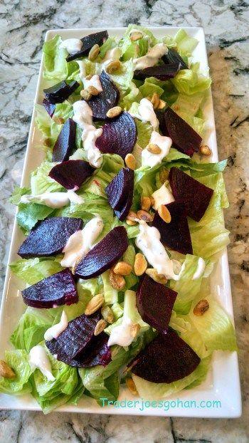 ビーツの簡単サラダとトレーダージョーズのアップルサイダービネガー