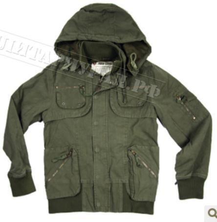 Куртка в стиле милитари от бонприкса