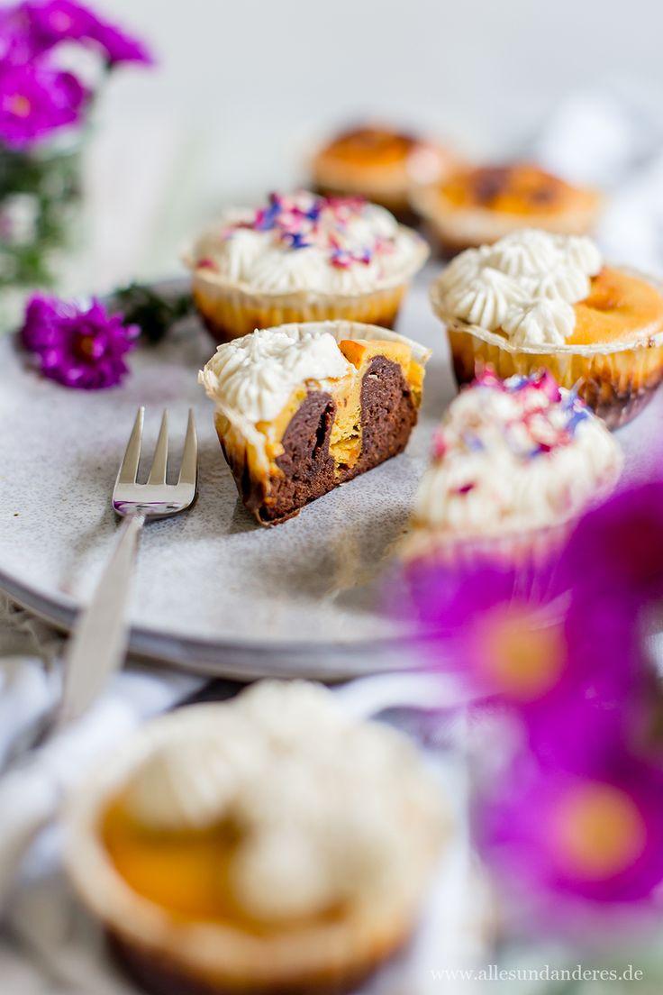 Kürbis-Schoko-Cheesecake-Cupcakes mit Zimt-Mascarpone-Frosting   Alles und Anderes