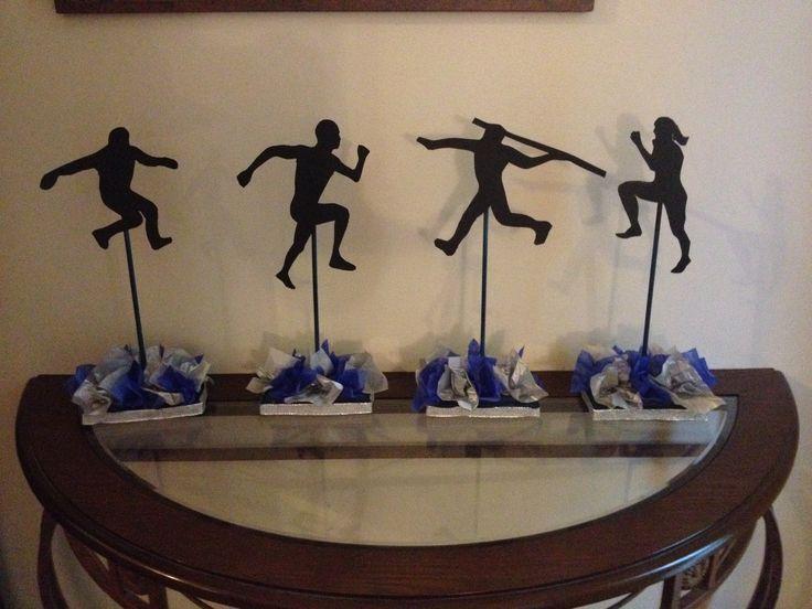 Track banquet centerpieces