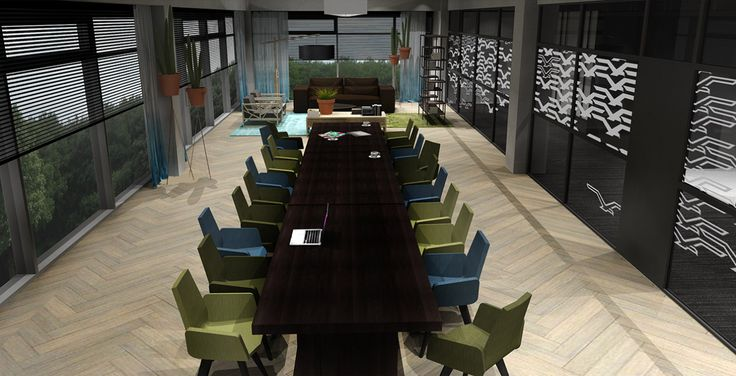 Voor het Bruynzeel Home Center heeft Jeanne van de Meulengraaf samengewerkt met interieur ontwerper Lara Burgmans.  Lara Burgmans heeft zorg gedragen voor het ontwerp en begeleiding van deze showroom.  Jeanne heeft de styling en de kleuropties bepaald en het ontwerp samen met Lara uitgevoerd. Ook heeft Jeanne een groot deel van de meubels en accessoires geleverd. #office #kantoor #interiordesign #interior #styling #ontwerp #kantoorinrichting #vergadertafel #groen #blauw #vergaderstoelen #3d