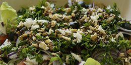 BBQ Salade recept: geitenkaassalade met honingdressing