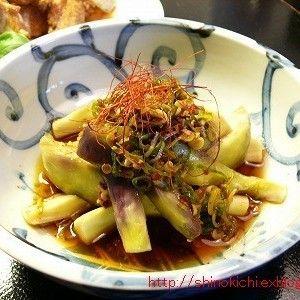 茄子の中華風冷製+by+しのさん+|+レシピブログ+-+料理ブログのレシピ満載! 夏の暑い日にピッタリの冷たい簡単おつまみ。