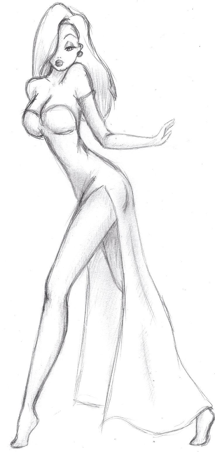 Jessica Rabbit. Maybe a painting idea.