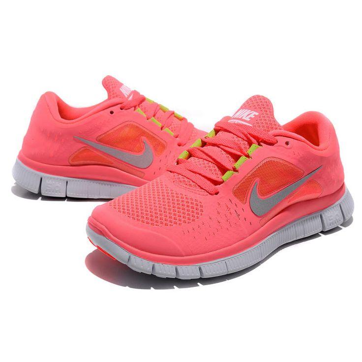nike free run 3 hot punch damen sportschuhe pink grau