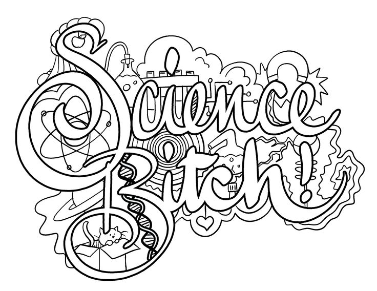 science bitch coloring page by colorful language posted with - Science Coloring Pages
